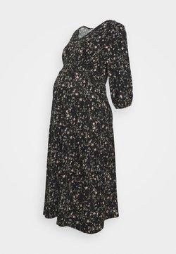 Dorothy Perkins Maternity - DITSY PRINT SHIRRED WAIST MIDI DRESS - Vestido ligero - black