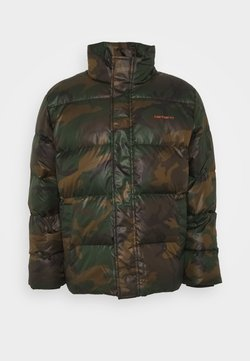 Carhartt WIP - DEMING JACKET - Daunenjacke - camo evergreen / brick orange