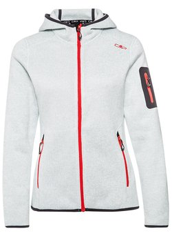 CMP - WOMAN FIX HOOD JACKET - Fleecejacke - metal/bianco