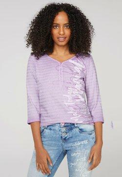Soccx - SERAFINO-OIL DYED MIT GLITTER-STREIFEN - Langarmshirt - soft lavender