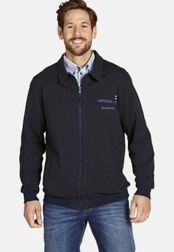 Jan Vanderstorm - veste en sweat zippée - dark blue