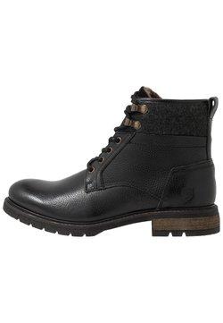 Pantofola d'Oro - LEVICO UOMO HIGH - Schnürstiefelette - black