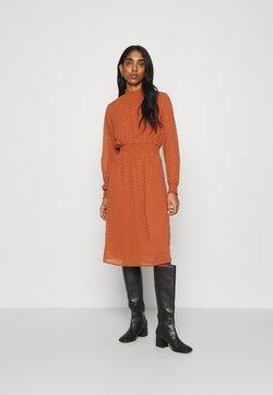 ONLY - ONLANNELENA HIGHNECK SMOCK DRESS - Day dress - ginger bread