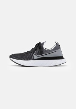 Nike Performance - REACT INFINITY RUN FK - Neutral running shoes - black/white