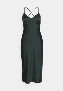 Abercrombie & Fitch - CROSS BACK MIDI DRESS  - Cocktailkleid/festliches Kleid - emerald green