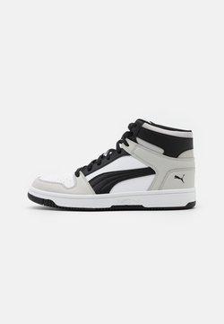 Puma - REBOUND LAYUP UNISEX - Høye joggesko - white/black/gray violet