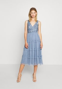 Lace & Beads - MARYAM MIDI - Cocktailkleid/festliches Kleid - dusty blue