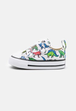 Converse - CHUCK TAYLOR ALL STAR DIGITAL DINOVERSE UNISEX - Sneakers laag - white/green/university red