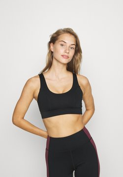 Wolf & Whistle - PANEL HIGH NECK SPORTS BRA CORE - Sport BH - black