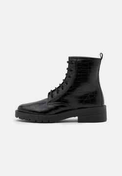 Topshop - BUSTER LACE UP - Veterboots - black