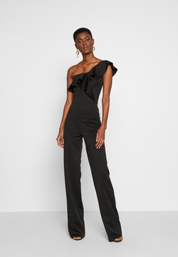 True Violet Tall - FRILL ONE SHOULDER - Combinaison - black