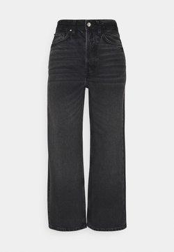 Even&Odd - Wide leg cropped jeans - Jeans straight leg - black denim