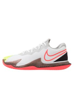 Nike Performance - AIR ZOOM VAPOR CAGE 4 - Scarpe da tennis per tutte le superfici - white/solar red/hot lime/neo turquoise