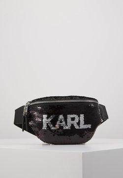 KARL LAGERFELD - SEQUIN BUMBAG - Gürteltasche - black