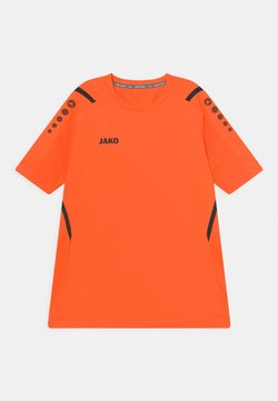 JAKO - CHALLENGE UNISEX - T-shirt z nadrukiem - neonorange/schwarz