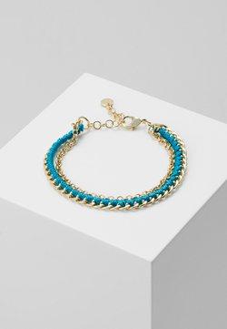 SNÖ of Sweden - TRAIL BRACE - Bracelet - gold-coloured/turquoise