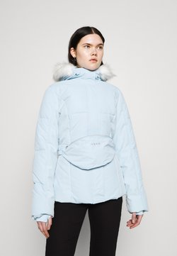 Missguided - SKI JACKET WITH MITTENS AND BUMBAG  - Winterjacke - light blue