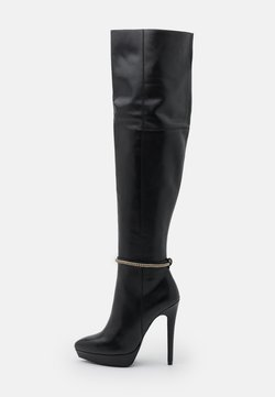 Even&Odd - LEATHER - Bottes à talons hauts - black