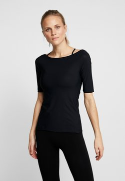 Filippa K - SLIM MID SLEEVE TOP - T-paita - black