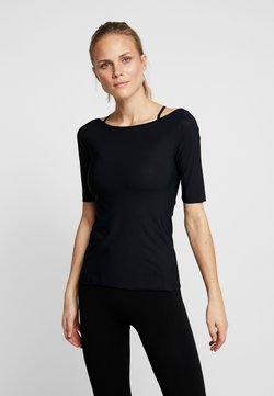 Filippa K - SLIM MID SLEEVE TOP - T-Shirt basic - black