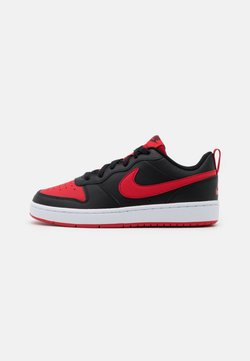 Nike Sportswear - COURT BOROUGH 2 UNISEX - Sneakers - black/university red/white
