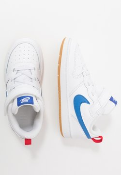 Nike Sportswear - COURT BOROUGH 2 - Sneakers laag - white/pacific blue/university red/light brown