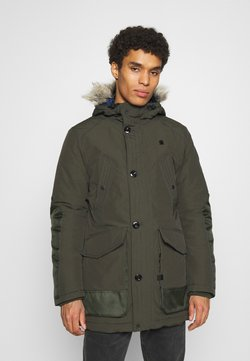 G-Star - VODAN PDD HDD FAUX FUR PARKA - Wintermantel - olive