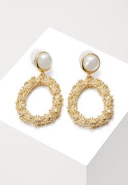 SNÖ of Sweden - LIGHT PENDANT - Earrings - gold-coloured/white