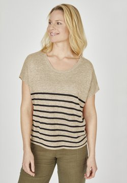 eve in paradise - HARRIET - T-Shirt print - beige