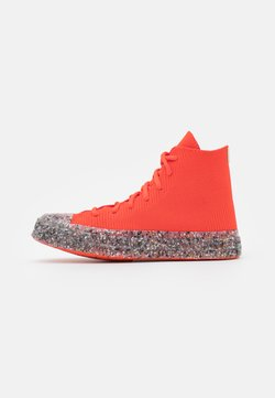 Converse - RENEW CHUCK 70 RECYCLED UNISEX - Sneakersy wysokie - bright poppy/string/barely volt