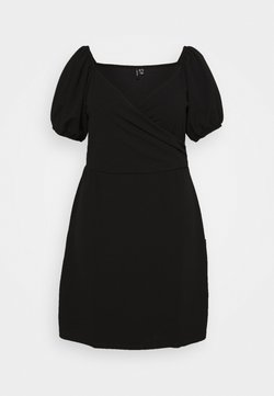 Vero Moda Curve - VMJASMINE WRAP SHORT DRESS - Kjole - black