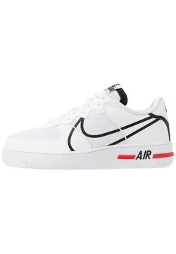 Nike Sportswear - AIR FORCE 1 REACT - Sneaker low - white/black/university red