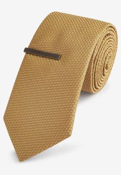 Next - SET - Krawatte - mustard yellow