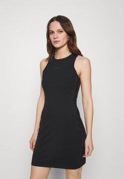 Calvin Klein Jeans - LOGO RACER BACK DRESS - Sukienka z dżerseju - black