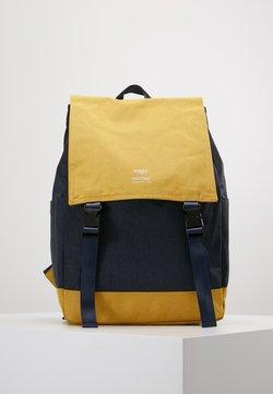 anello - SLIM FLAP BACKPACK UNISEX - Reppu - navy/yellow
