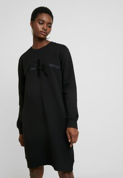 Calvin Klein Jeans - TAPING THROUGH MONOGRAM DRESS - Sukienka letnia - black