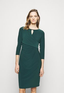 Lauren Ralph Lauren - MID WEIGHT DRESS TRIM - Vestido de tubo - deep pine