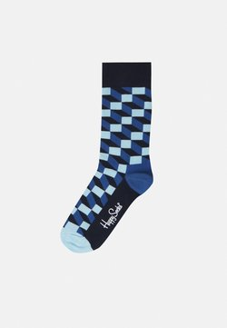 Happy Socks - FILLED OPTIC SOCK UNISEX 2 PACK - Chaussettes - blue/grey