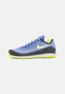 Nike Performance - NIKECOURT AIR ZOOM VAPOR X  - Buty tenisowe uniwersalne - sapphire/hot lime/black/light thistle/white