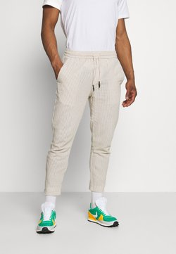 Only & Sons - ONSLINUS LIFE CROP TAP PANT - Stoffhose - raw