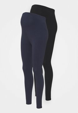 New Look Maternity - 2 PACK - Leggings - black/dark blue