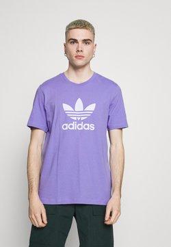 adidas Originals - TREFOIL UNISEX - Camiseta estampada - light purple/white