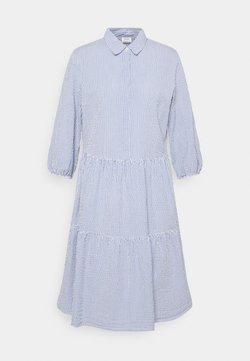 Marc O'Polo DENIM - DRESS BUTTON PLACKET - Blusenkleid - intense blue