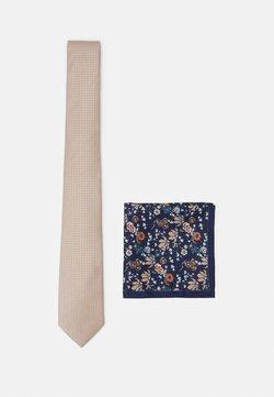 Burton Menswear London - CHAMPAGNE FLORAL SET - Einstecktuch - neutral