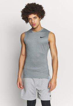 Nike Performance - M NP TOP SL TIGHT - Funktionsshirt - smoke grey/light smoke grey/black