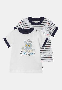 Jacky Baby - OCEAN CHILD 2 PACK - T-shirt imprimé - white/dark blue