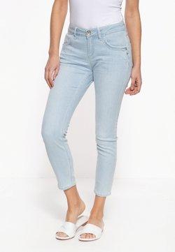 Amor, Trust & Truth - MIT SOMMERLICHEM STREIFEN-DESIGN LEONI - Jeans Slim Fit - hellblau
