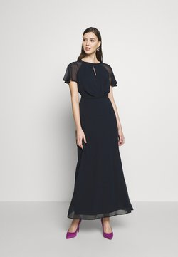 Dorothy Perkins - BLUSH PLEAT FRONT KEYHOLE MAXI DRESS - Vestido de fiesta - dark blue