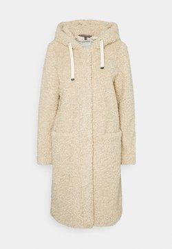Esprit - TEDDY ZIP  - Classic coat - cream beige