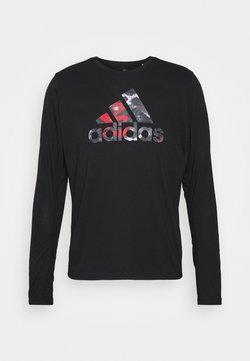 adidas Performance - FAST - Bluzka z długim rękawem - black